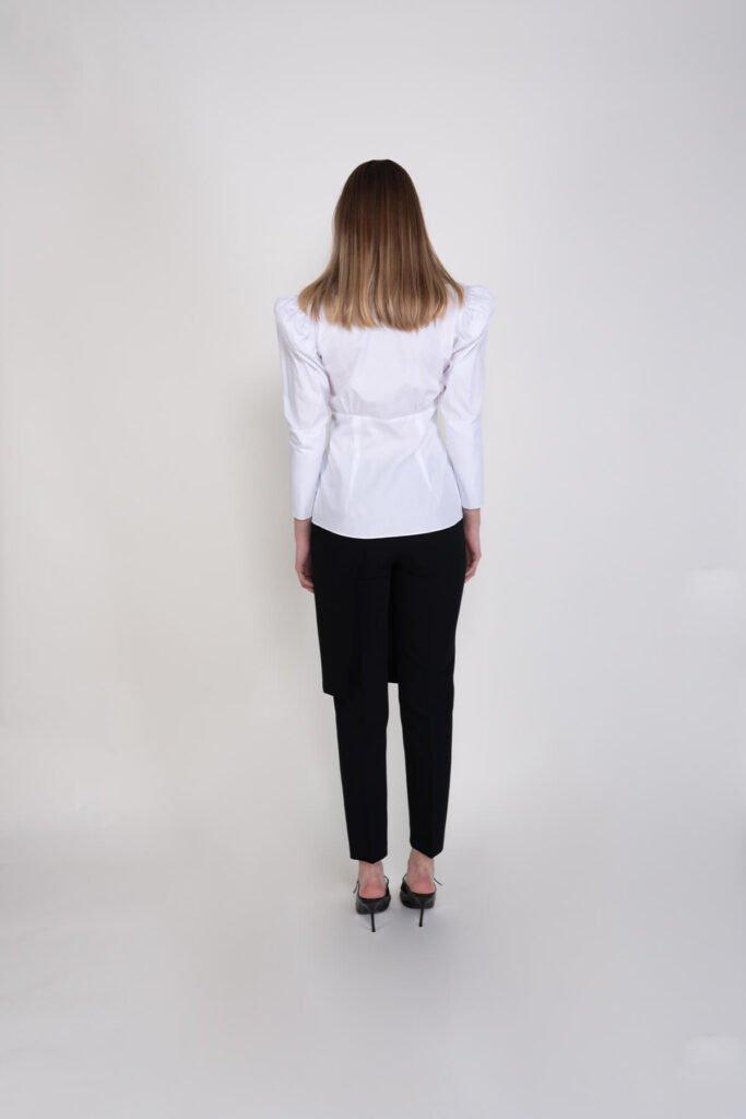 Sembol Giyim Tasarım Şık Pamuklu Kadın Gömlek 192201